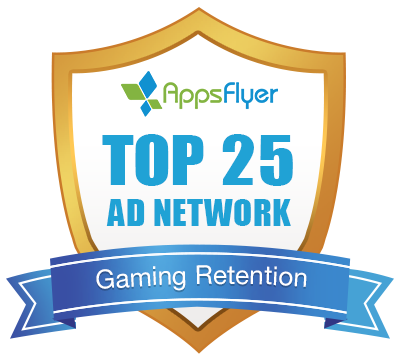 Top 25 Ad Network of AppsFlyer in Gaming Retention
